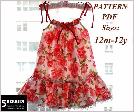 2024ceceba61 Maria Pillowcase Dress PATTERN + Free Mother-Daughter Apron Pattern ...