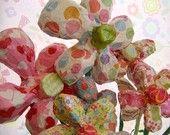 Paper mache daisies/etsy