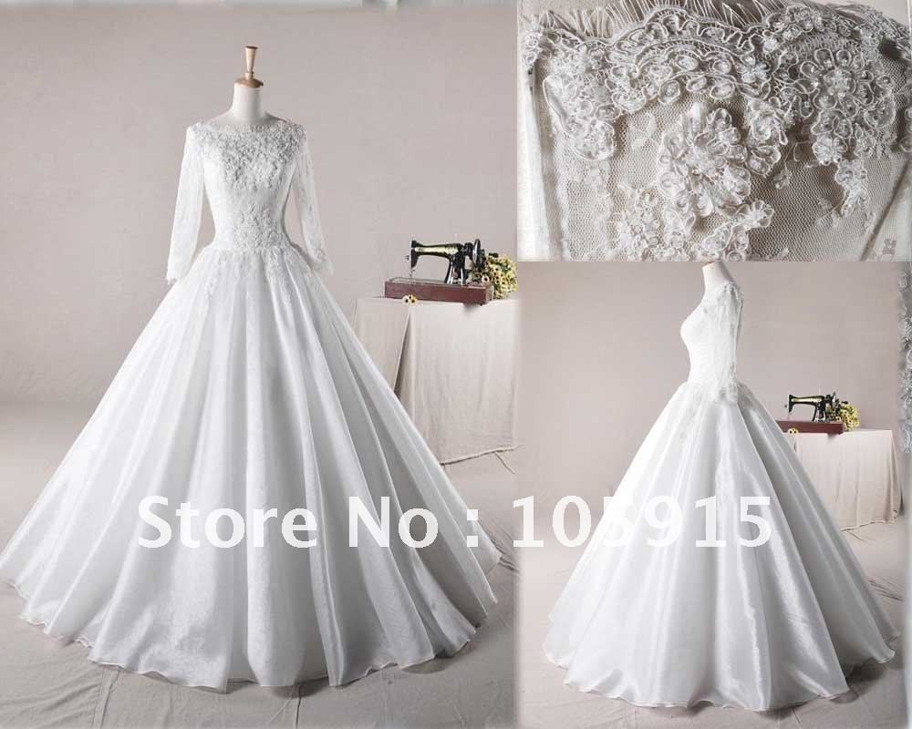 Find More Wedding Dresses Information about Pure White Ball Gown ...