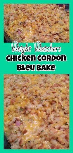 Weight Watchers Chicken Cordon Bleu Casserole