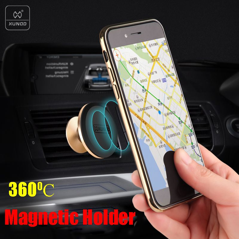 >> Click to Buy << Xundd 360 Degree Magnetic Car Holder Phone Stand Mini Air Vent Mount Buckle Universal Magnetic Mobile Phone Holder Stands #Affiliate