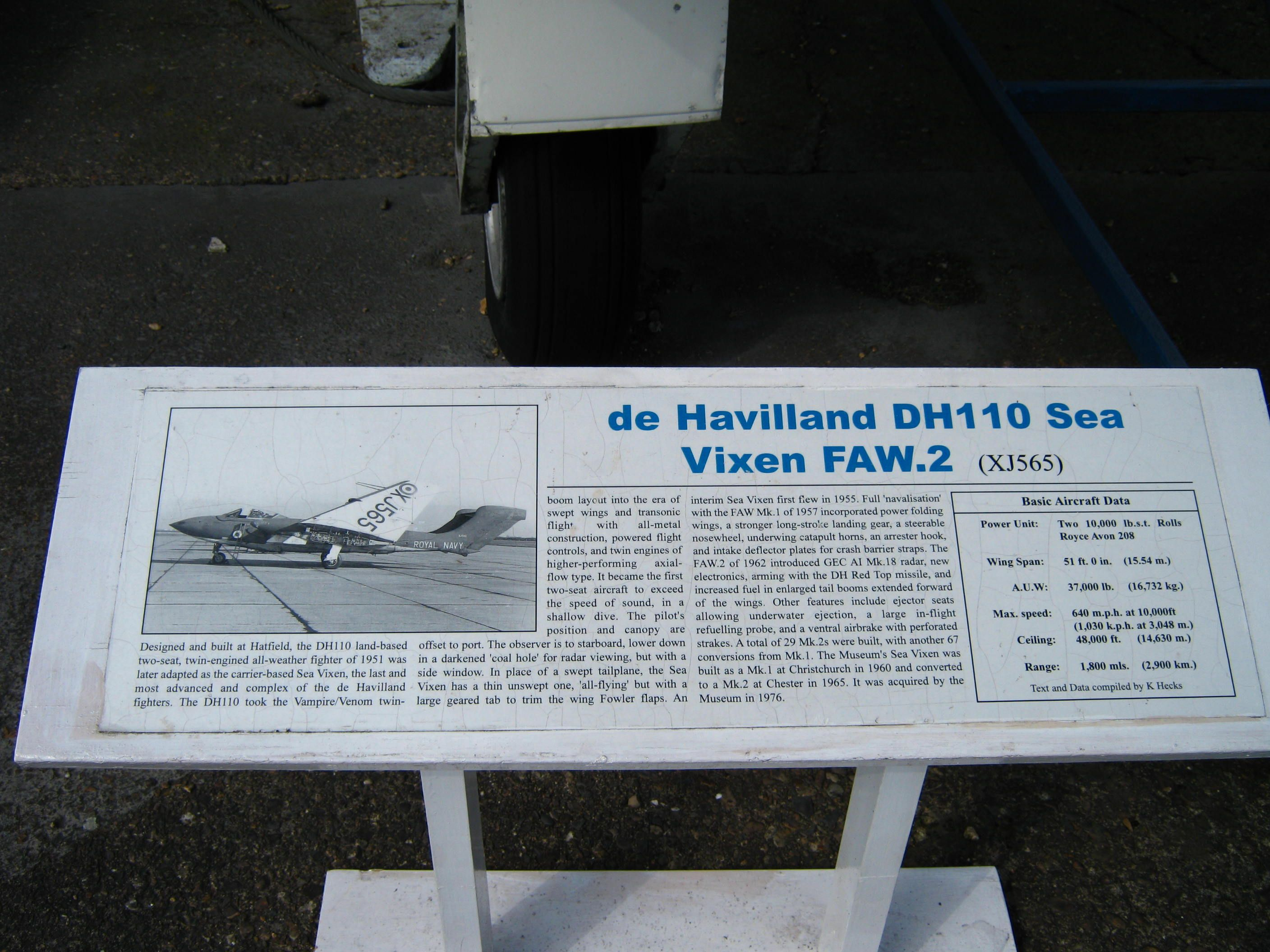 More about the Sea Vixen