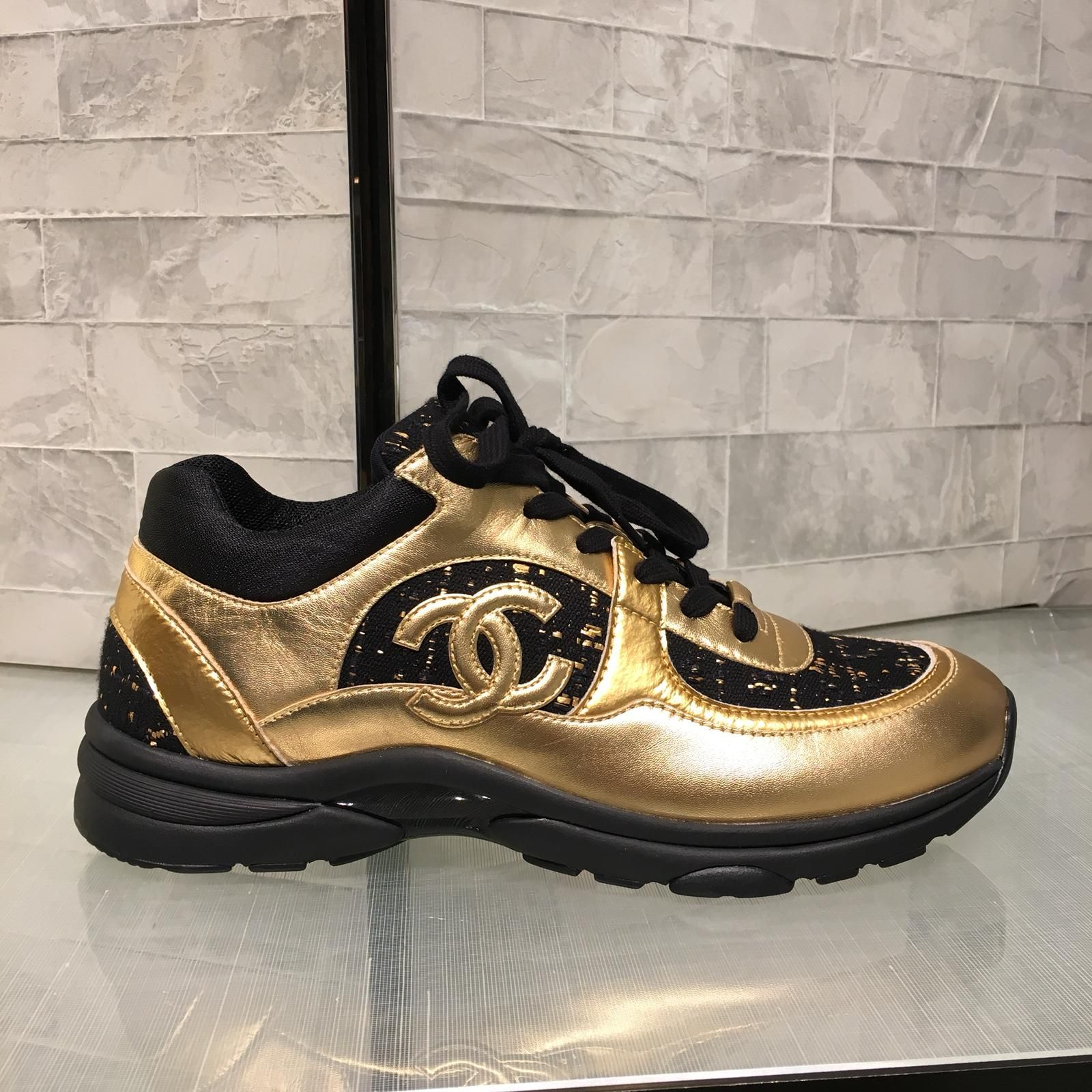CHANEL PRE FALL 2019 EGYPT Gold Sneaker