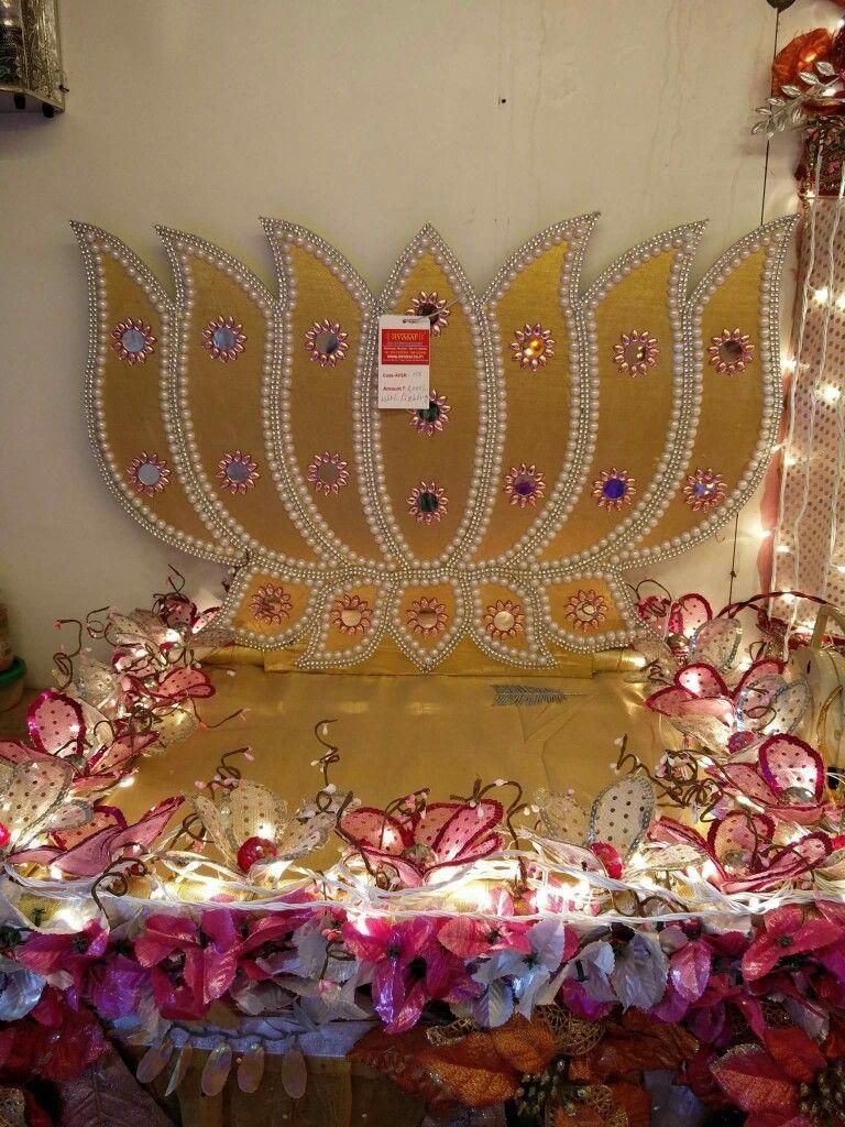 Ganapati Decoration Stage Decorations Wedding Decorations Diwali