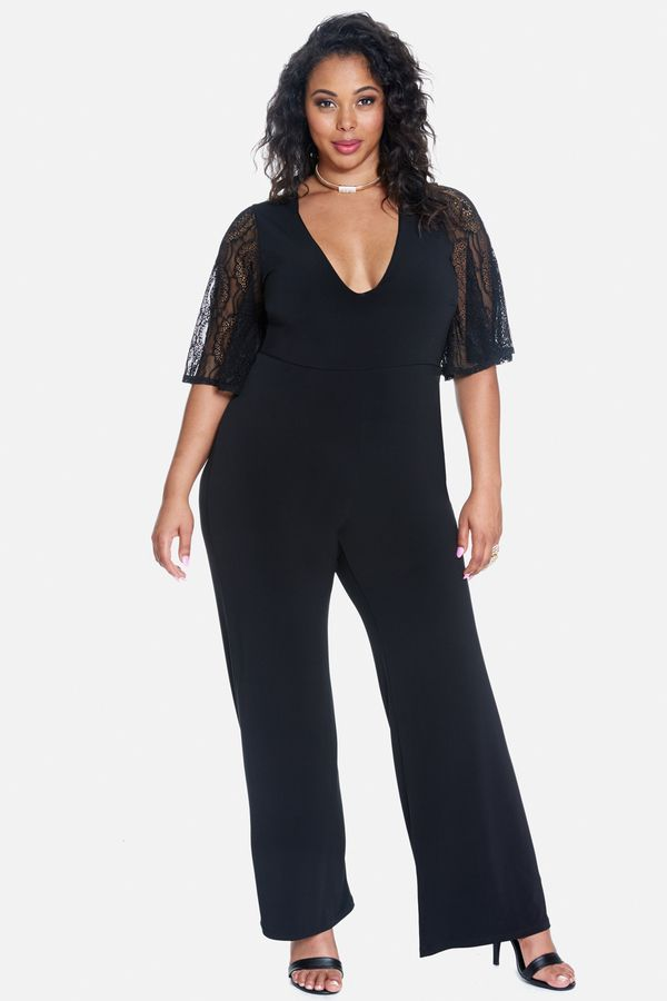 Geneva Lace Sleeve Jumpsuit Read More Reviews Of The Product By
