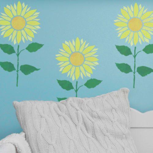 Sunflower Plant Stencil Template - Reusable Flower Stencil ...