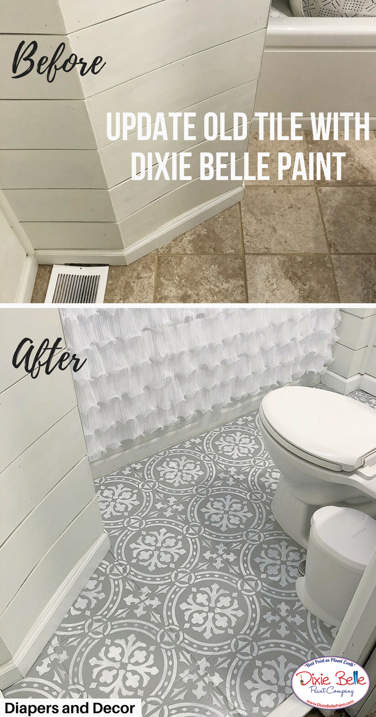 Update Your Bathroom Tile With Dixie Belle Paint Company. These Tiles Were  Painted With The