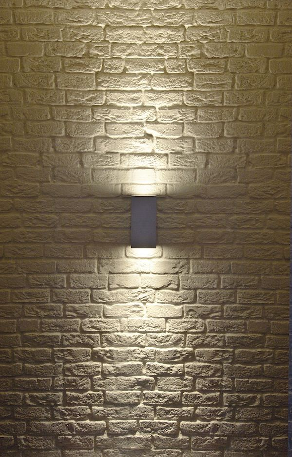 Big theo up down exterior wall sconce by slv lighting for Exterior up down wall light