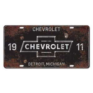Chevrolet License Plate 1911 - Shop Lingenfelter $10.99 http://www.lingenfelter.com/product/L93-9-008-BK-NA.html#.WMAhPPK1L5w #Lingenfelter #Detroit #Corvette #Camaro