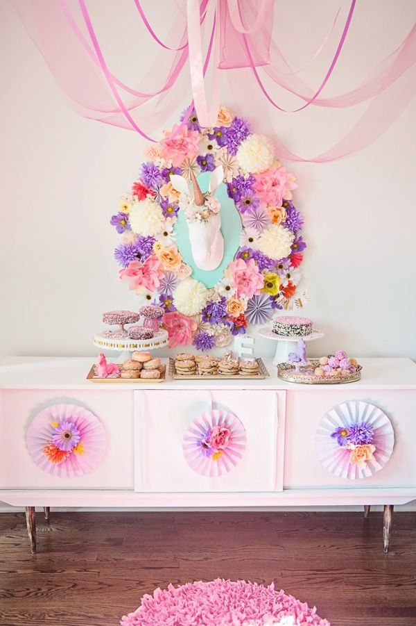 fiesta cumpleaos mesa dulce temtica unicornio