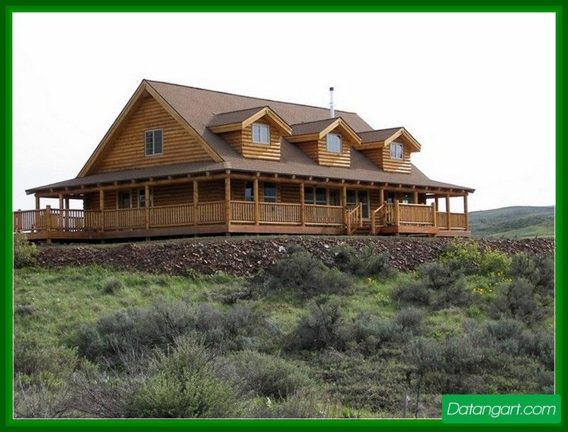 One Story Ranch House Plans With Wrap Around Porch 001 Design Idea Home Landscaping Log Home Plans Ranch House Plans Log Home Floor Plans