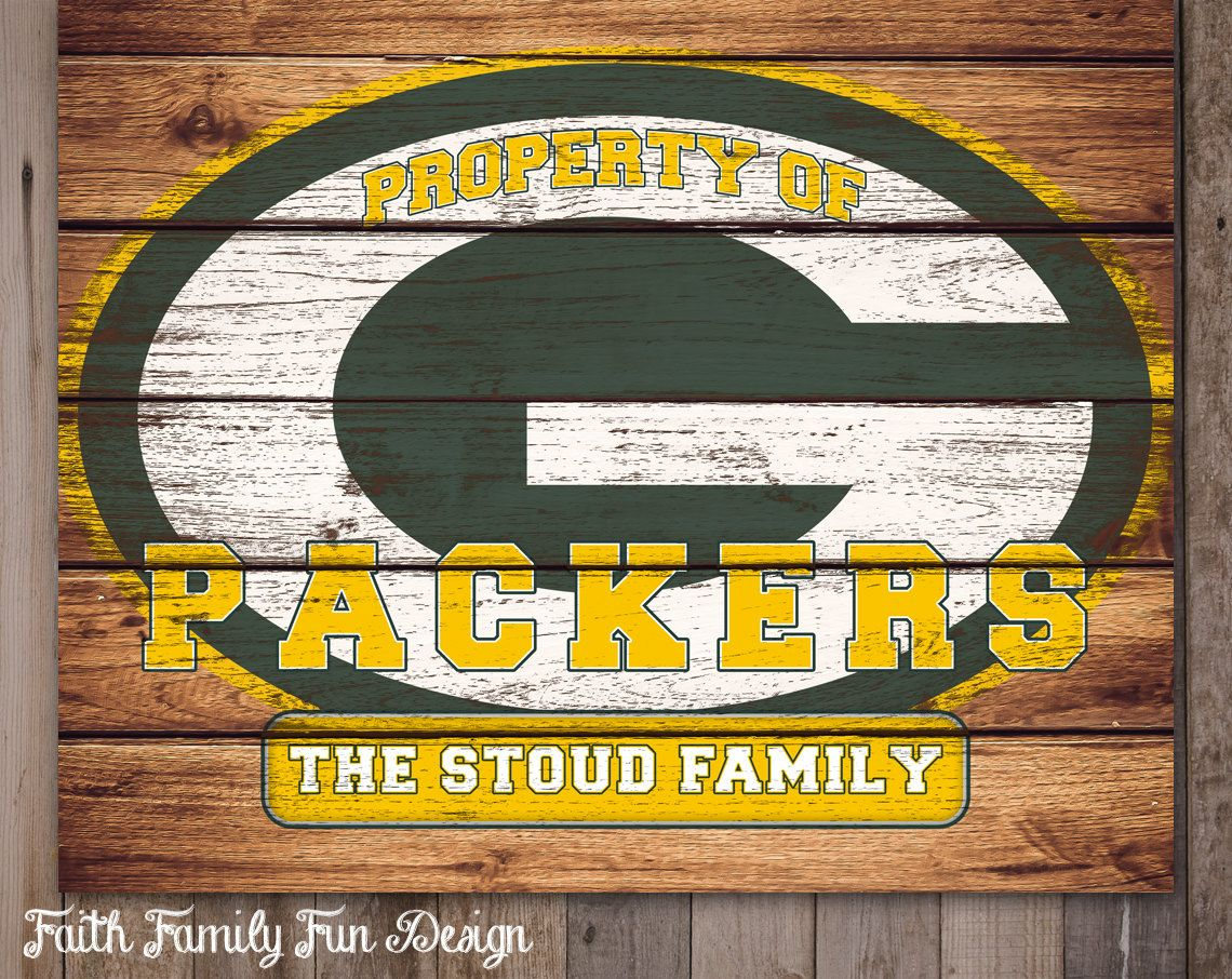 Packer Man Cave Signs : Nfl green bay packers team sign printable personalized man cave