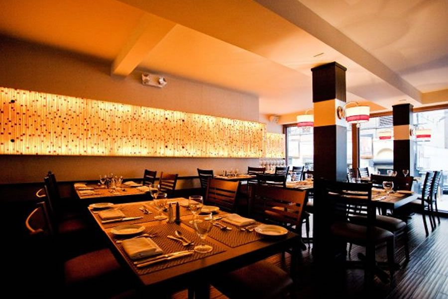Contemporary American Fine Dining Restaurant Interior Design Of Glass House Tavern Manhattan NYC