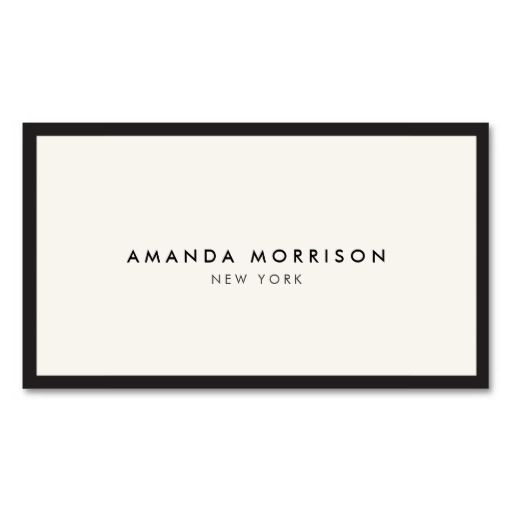 Elegant and Refined Luxury Boutique Black\/Ivory Business Card - blank business card template