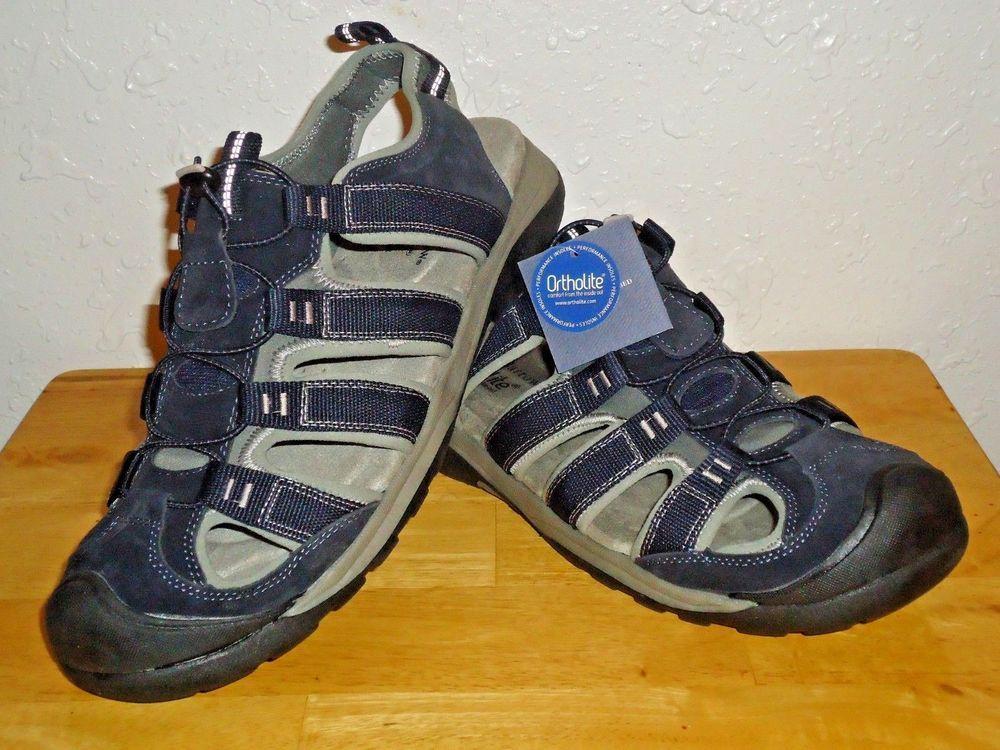 34f2e7f1f49b Men s Croft   Barrow Ortholite Outdoorsman Sandals Navy Blue Size 11-13 NWT   CroftBarrow  Fisherman