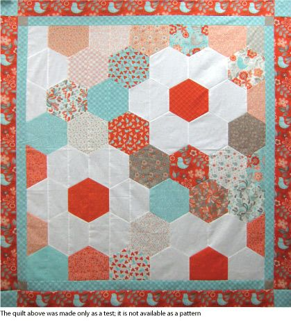 Half Hexagon Test Quilt -- We found that cutting and arranging the ... : half hexagon quilt - Adamdwight.com