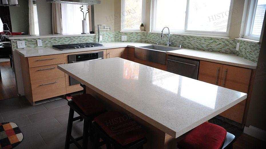 Best Stellar Snow White Quartz Countertops Kitchen