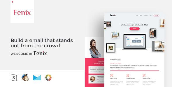 Fenix Responsive Email Template Minimal Has Features Such As High Resolution No
