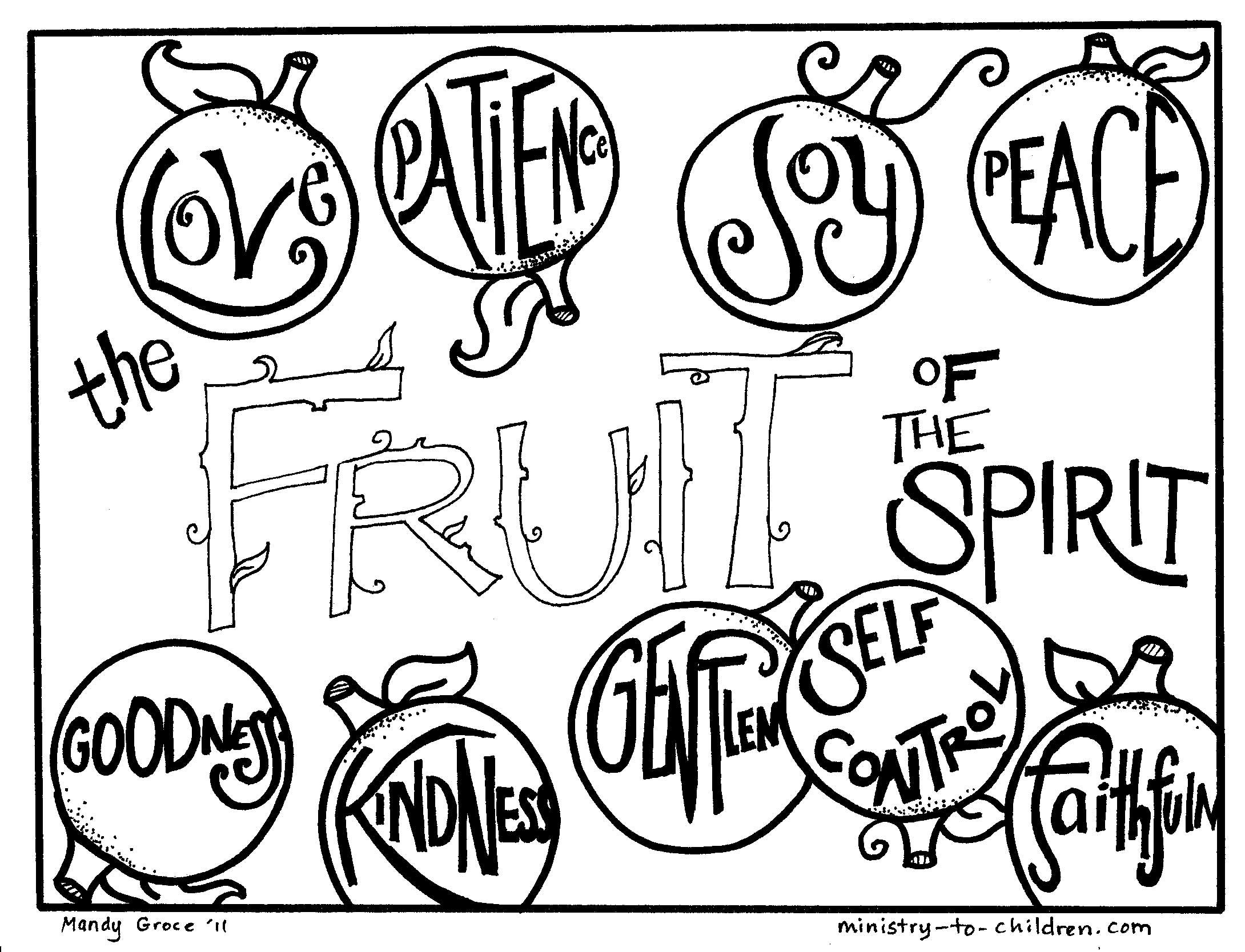 Kids coloring book pages free - Printable Sunday School Coloring Pages Fruit Of The Spirit Coloring Pages Free Printables
