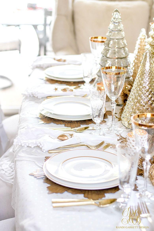 Elegant Gold Christmas Table Scape Randi Garrett Design Christmas Table Settings Elegant Christmas Tablescapes Christmas Table
