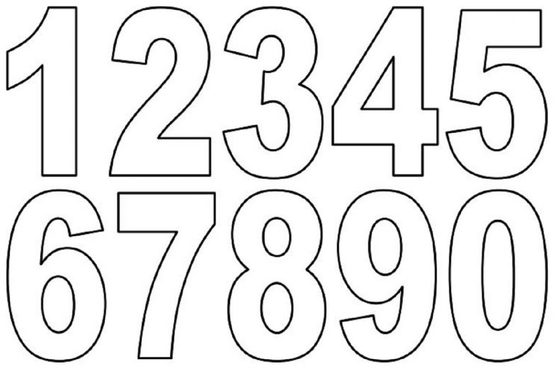 Number Coloring Pages For Preschool 101 Coloring Number Templates Printable Numbers Printable Chart