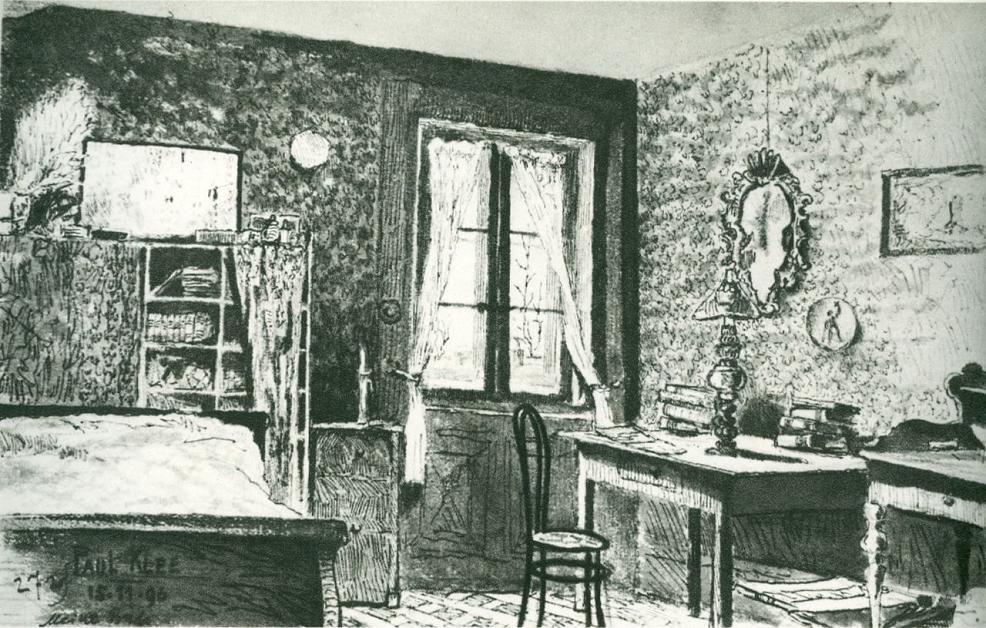 paul klee - my room, 1896.