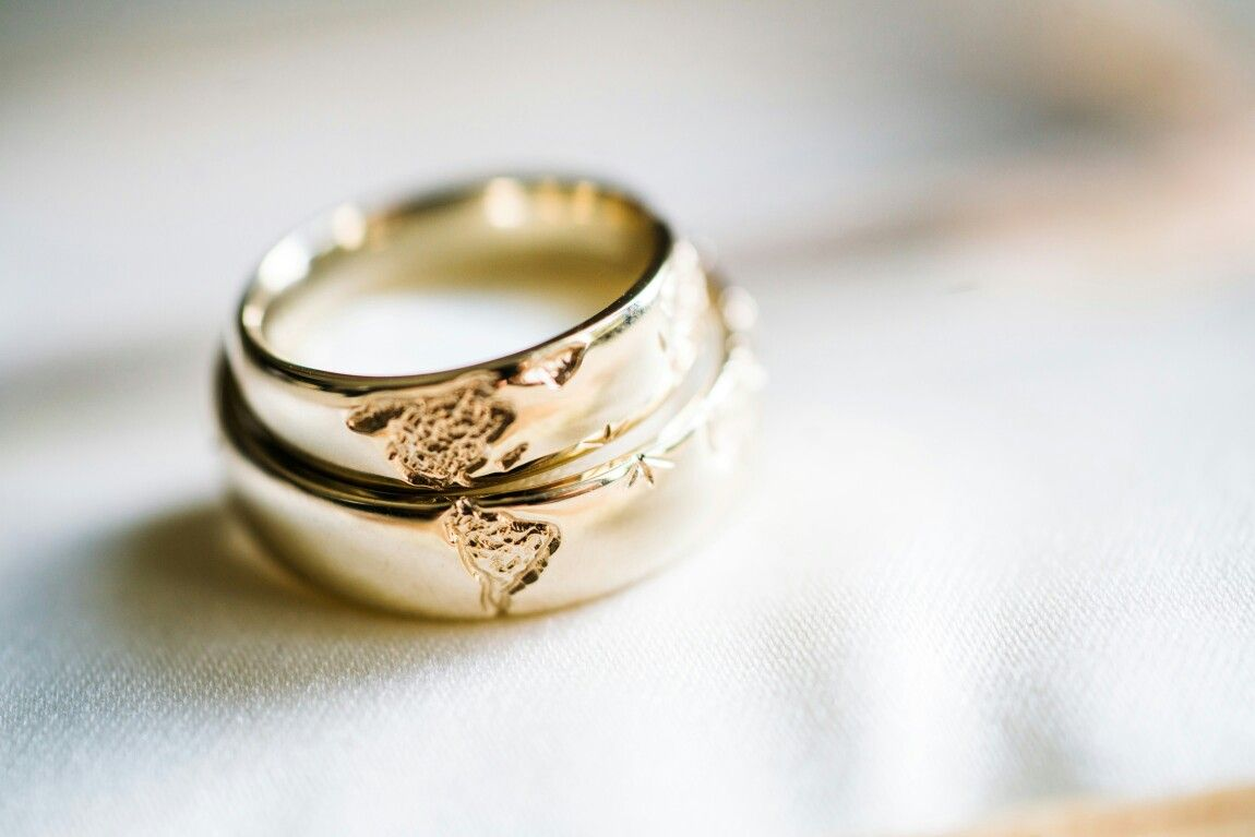 Wedding Rings When Combined They Form The World Map The North And