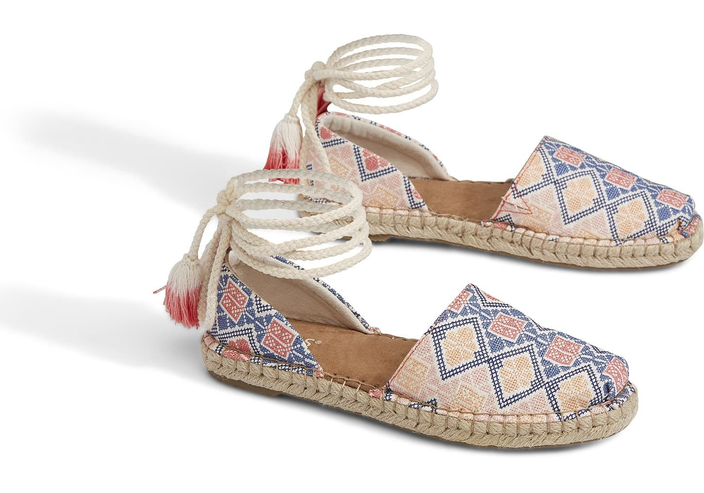 916dcb7d0ed Toms Geo Embroidered Women s Katalina Espadrilles Shoes - 11 ...