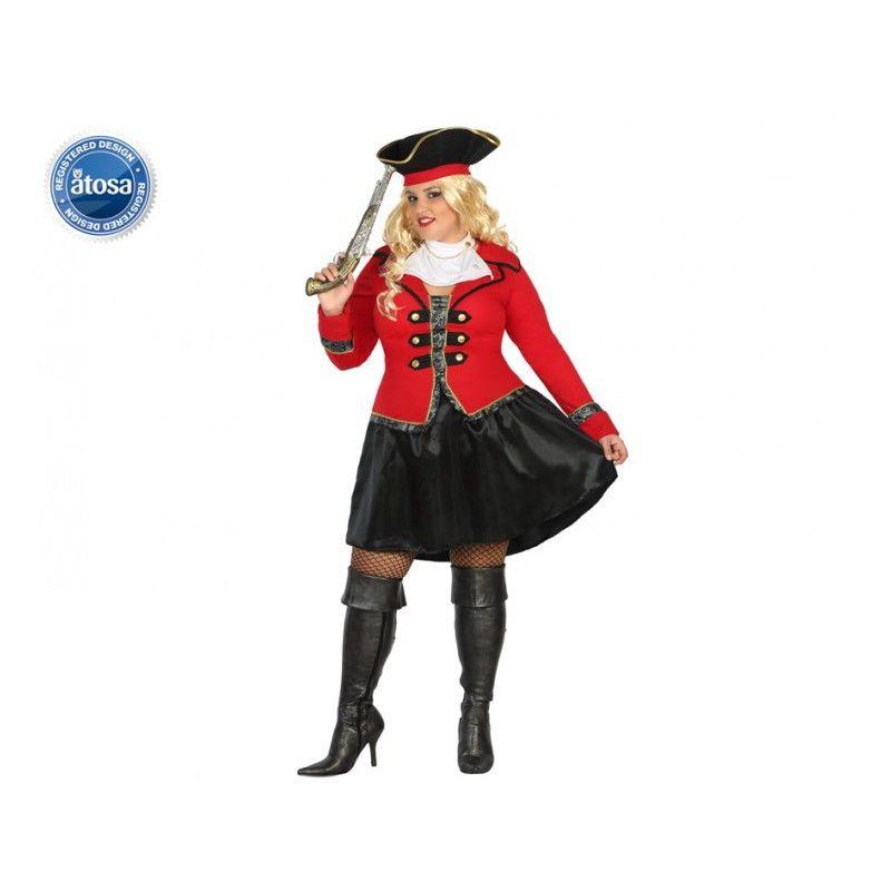 bfb2b7a56d0  Costume  Disfraz de Bucanera  Pirata para mujer en Talla Grande XXL