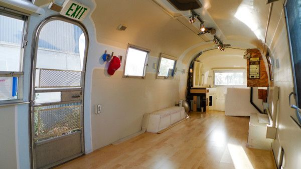 Our 1968 airstream remodel we design and build custom for Travel trailer bathroom ideas