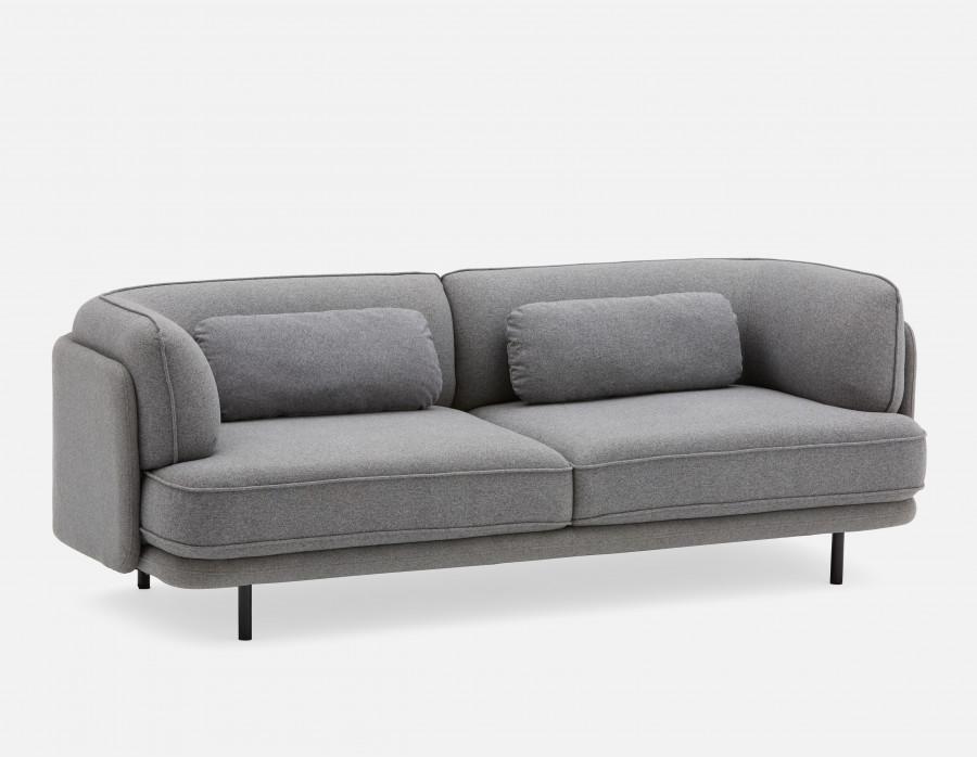 Mosco Grey 3 Seater Sofa Structube 3 Seater Sofa Seater Sofa Sofa