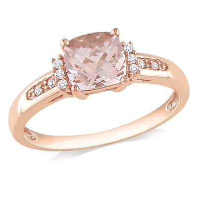 Zales Diamond Accent Cushion-Shaped Ring in 10K Gold wwnH3