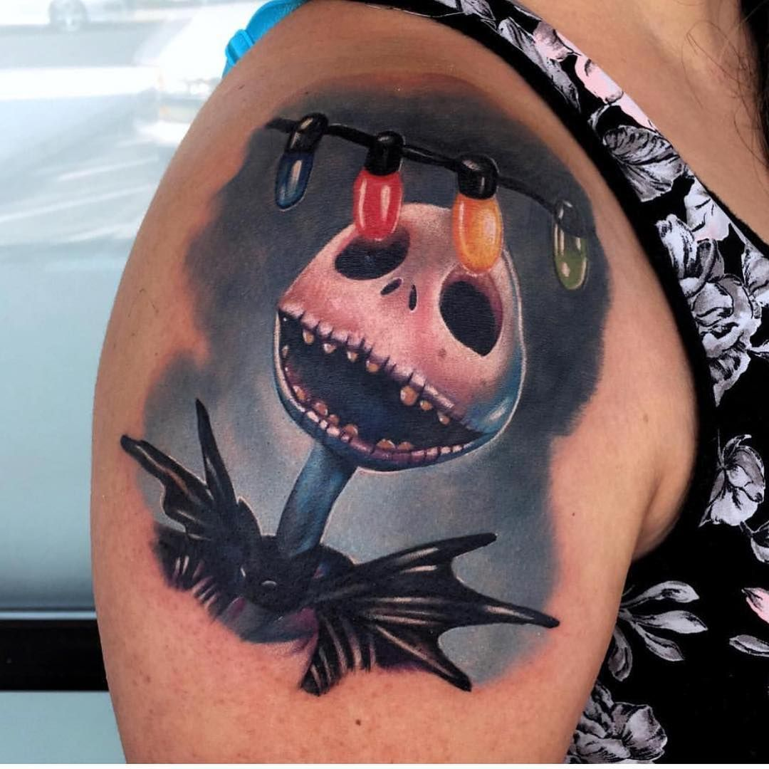 Disney Tattoos On Instagram Do You Believe Nbc Is A Halloween Movie Or A Christmas Movie Or Both Tattoo Done By Audie Tattoos Christmas Tattoo Incredible Tattoos Tattoos