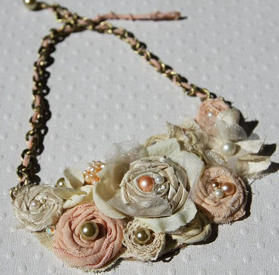 Beautiful Bib Necklace, Looks Like A Lot Of Work But Worth The Effort.