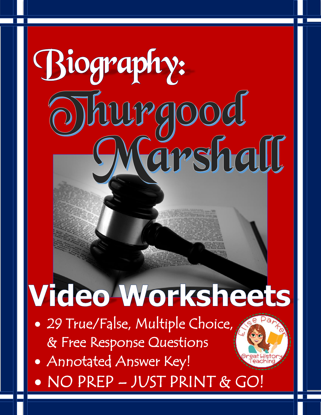 Thurgood Marshall Biography Video Worksheets