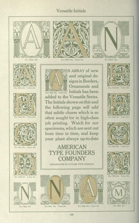 American specimen book of type styles : complet...