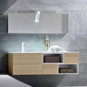 Mobile bagno sospeso doppio lavabo integrato Tulle Archeda   Mobili ...