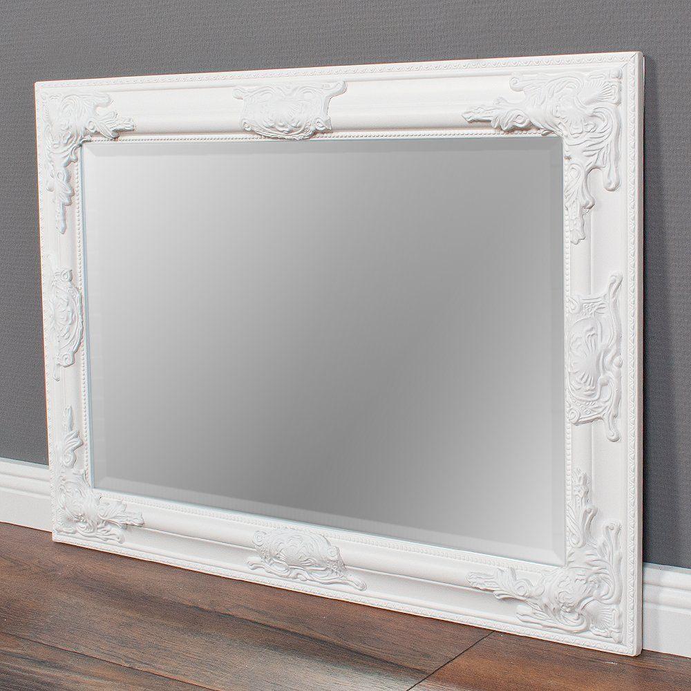 Lebenswohnart Wandspiegel Bessa Weiss Pur 70x50cm Barock Spiegel
