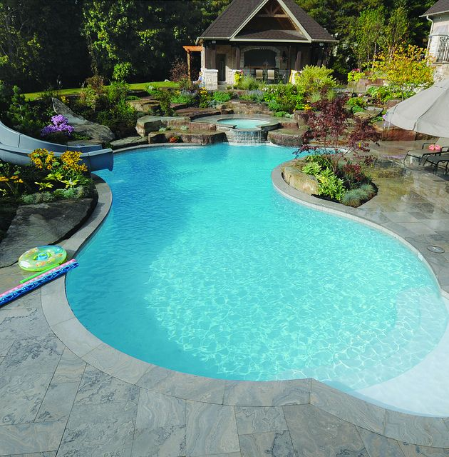 Gib San Pools Freeform Family Pool Backyard Pool Landscaping