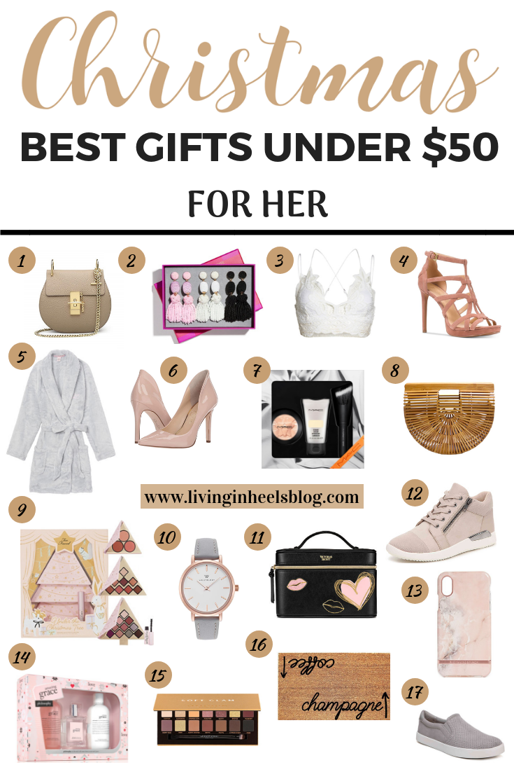 Best Christmas Gifts For Her Under 50 Living In Heels Blog Christmas Gifts For Girlfriend Girlfriend Gifts Christmas Gifts For Mom