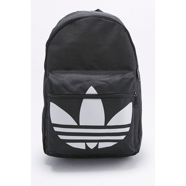 94e4f4ef5c adidas Originals Classic Trefoil Black Backpack (€41) ❤ liked on Polyvore  featuring bags