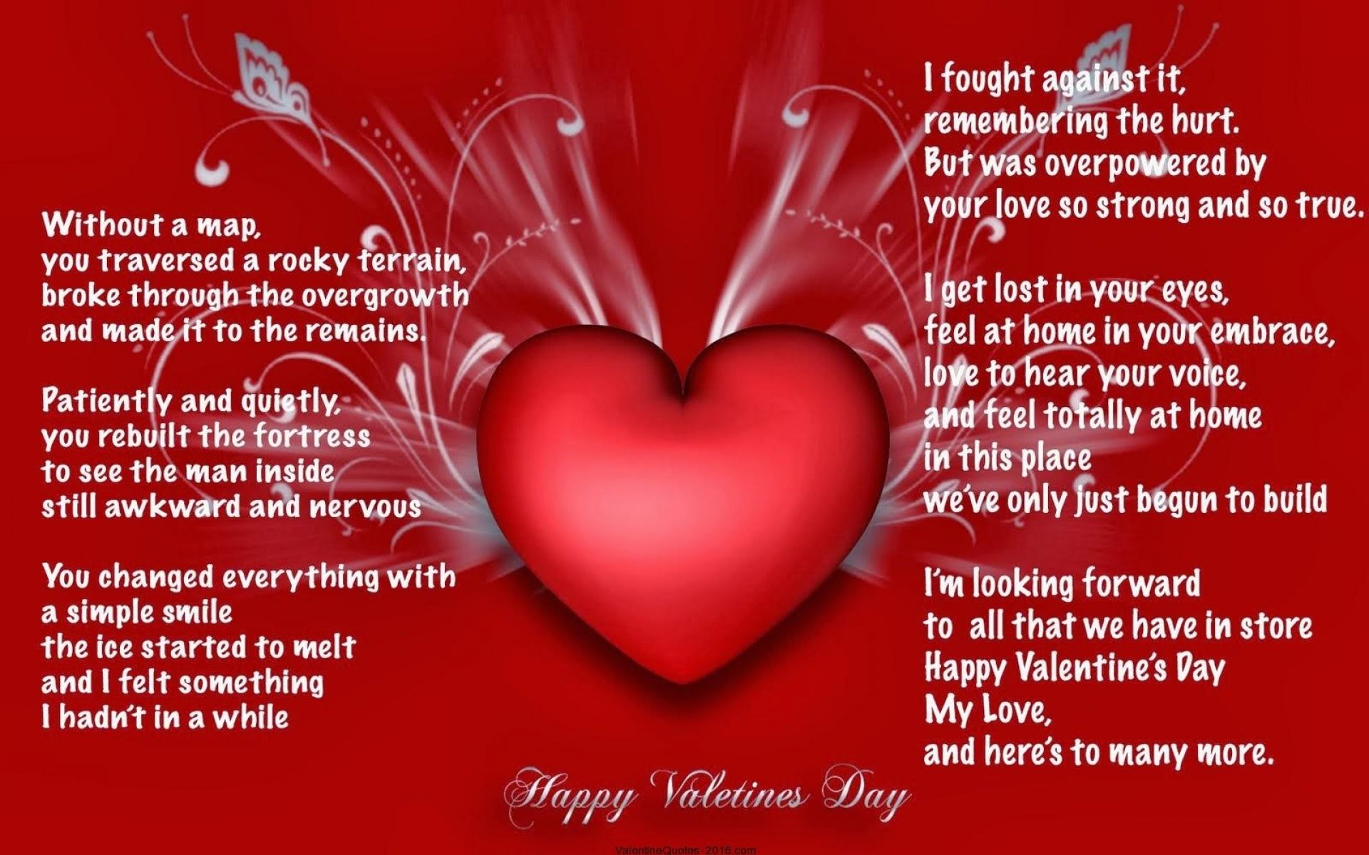 Valentines Day Quotes For Girlfriend Happy Valentines Day My Love Images  Love  Pinterest
