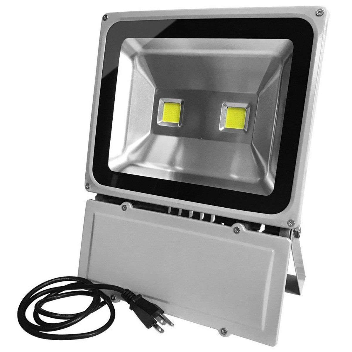 Glw 100w Led Outdoor Flood Light Super Bright 9000lm 6000k 110v 250w Hps Bulb Equivalent Waterproof Ip65 Security Work Light Us 3 Prong Plug Flood Lights Led Flood Lights Outdoor Flood Lights