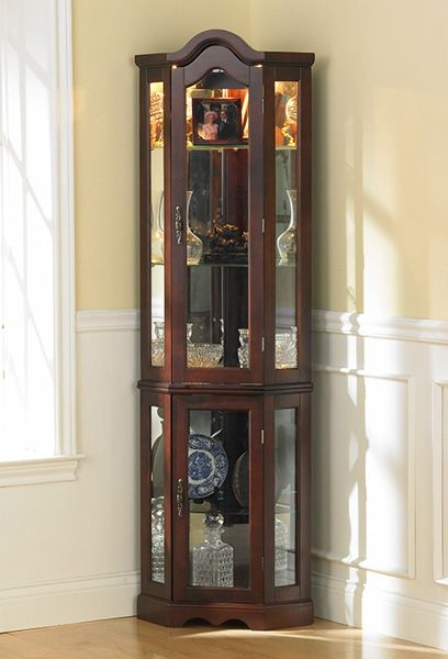 Pin By D Ysf On Furniture Curio Cabinet Corner Curio Corner Display Cabinet