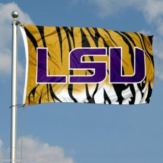 Lsu Tigers Stripes Logo Flag Lsu Tigers Football Lsu Lsu Fans