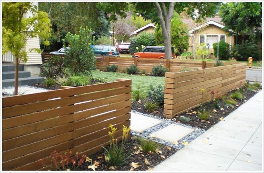 Popular Front Yard Fence Ideas 06 Modern Front Yard Front Yard