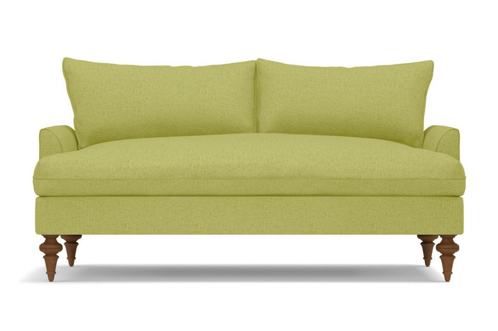 Outstanding Saxon Apartment Size Sofa Leg Finish Pecan Size Short Links Chair Design For Home Short Linksinfo