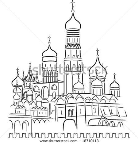 Vector Cathedral of Saint Basil the Blessed at the Red