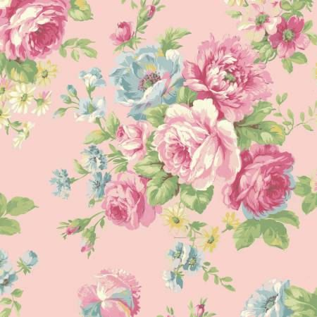 Ruru Bouquet Love Rose Love Rose Bouquet Pink By Windyrobincotton Fabric Roses Quilts