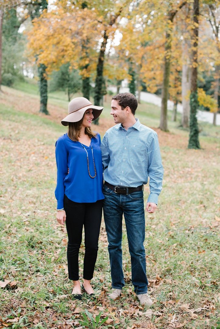 The cutest on trend but still classic look for this hometown Aiken engagement session. Love her fun hat accessory!